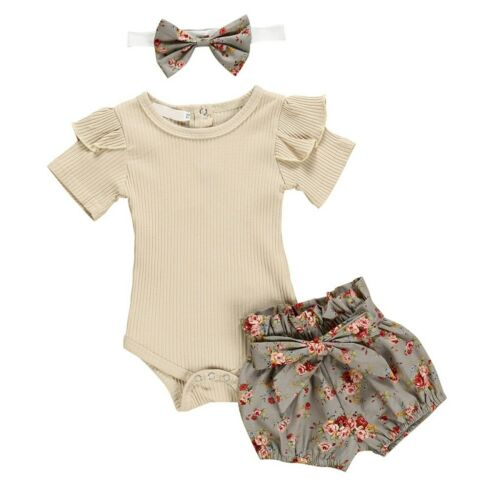 Headband Lovely Clothes Newborn Baby Girl Outfits Clothes for Romper Shorts