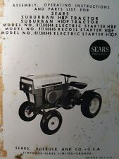 Sears H10p H8p Suburban 91760646 David Bradley Db Tractor Owner Amp Parts Manual