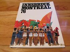 1976 INNSBRUCK MONTREAL 76 OLYMPIC GAMES Pro Sports Verlag WEST GERMANY HC/DJ/IL