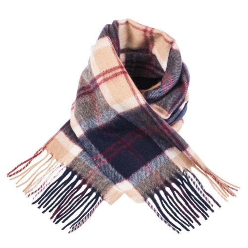 Edinburgh 100/% Lambswool Luxury Scottish Tartan Scarf Bannockbane Navy