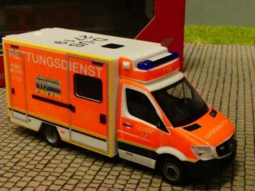 1//87 Herpa MB Sprinter Fahrtec-RTW Feuerwehr Düsseldorf 094627