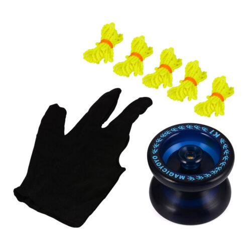 Magic YOYO Professional K1 YoYo Ball Blue Glove Kids Toy TH358 5 Strings