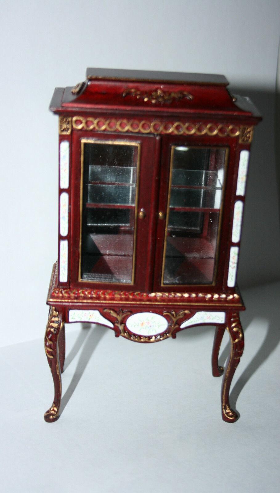 Casa de muñecas en miniatura vitrina de pintado a mano Curio