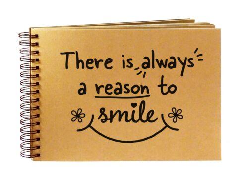 Siempre un motivo para sonreír Recuerdo Idea de Regalo mejor amigo cita álbum de recortes