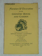 Country House & Garden Decorations, PARKE-BERNET GALLERIES, NY, 1951 Catalog