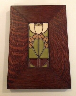 "4 1/8"" x 8""  Quartersawn Oak Classic Legacy tile frame for Motawi  Mission Style"