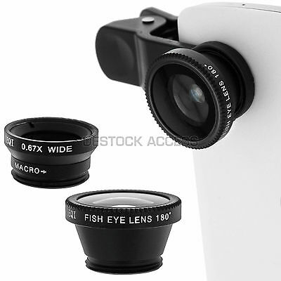 Kit Objectifs pour Acer Liquid E700 - Fisheye, Grand angle, Macro