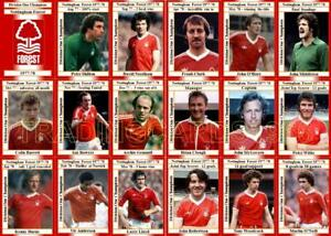 Nottingham Forest European Cup Winners Trading Card Set