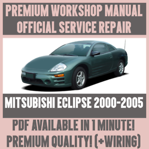 workshop manual service repair guide for mitsubishi eclipse 2000 rh ebay com 2000 Mitsubishi Eclipse Owner's Manual 2013 Mitsubishi Eclipse