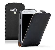 Black PU Leather Samsung Galaxy S 3 mini i8190 LA FLEUR Vertical Case cover