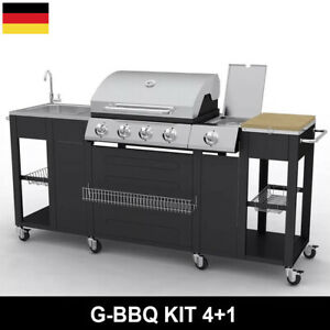 Details zu Gasgrill Grill Grillwagen BBQ Barbeque Gartengrill Gartenküche  Outdoor Küche NEU