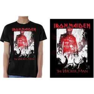 Licencia-Oficial-Iron-Maiden-el-Hombre-de-Mimbre-humo-Camiseta-Eddie-Metal
