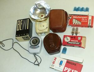 altes-Kamera-Zubehoer-Voigtlaender-90-095-Bewi-Quick-Agfalux-6076-Blitzlampen