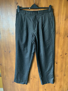 Austin Reed Suit Trousers Dark Grey Pinstripe Cashmere Wool 34 Waist 29 Leg Ebay