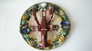 Vintage Decorative Plate Figurine Lobster Ceramic Glazed Handmade Wall Hanging Ebay
