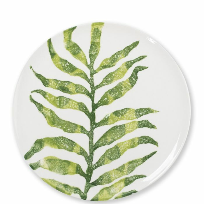 Vietri Into the Jungle Arica Palm Leaf Dinner Dinner Dinner Plate - Set of 8 c9d2dc