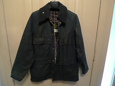 BARBOUR-  A105 BEDALE  WAXED COTTON JACKET - RARE-4 FRONT POCKETS- MADE @ UK-36