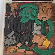 Lot of Over 90 Fisher Price GeoTrax Train Tracks Straight, Curved, Switches