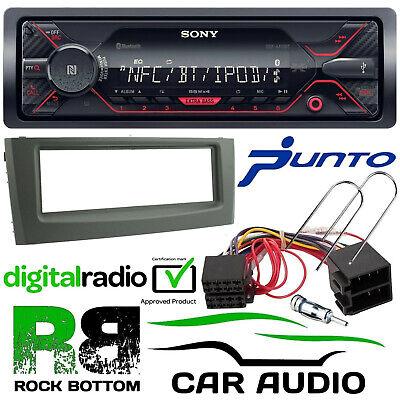 Fiat Grande Punto SONY CD MP3 USB Aux Car Stereo Steering Wheel /& BLACK Fascia