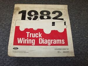 1982 ford bronco courier econoline ranger electrical wiring diagram rh ebay com  1982 ford bronco wiring diagram