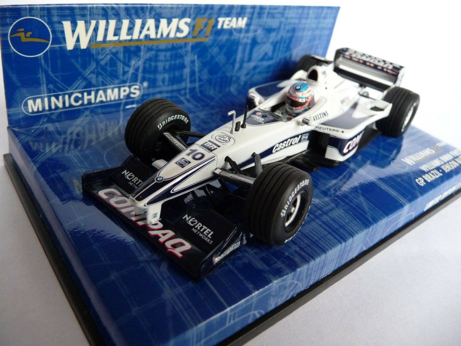 Minichamps 1:43 Williams BMW FW22 BRAZIL GP Jenson Button 000030