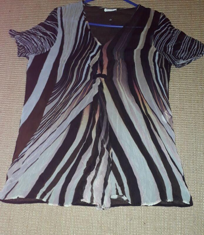 GüNstig Einkaufen Bluse Shirt Hängerchen Ethno 42 Bonita Brau Beige Heller Glanz