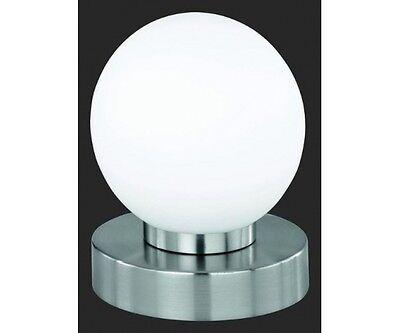 R540001 Tischleuchte mit Touch me Funktion, Nachttischleuchte, Lampe weiss rund