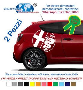 2-Adesivi-Loghi-laterali-bisce-ALFA-ROMEO-stickers-tuning-car-mito-147-giulia