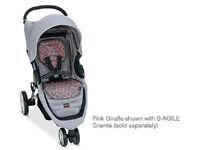 Britax B-agile Stroller Fashion Kit Seat Cover In Pink Giraffe Brand