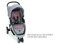 Britax B-agile Stroller Fashion Kit Seat Cover In Pink Giraffe Brand
