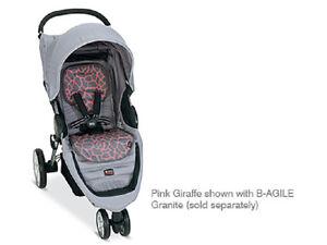Britax B-Agile Stroller Fashion Kit Seat Cover In Pink Giraffe Brand ...