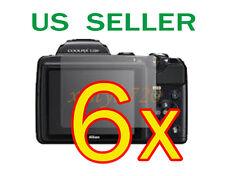 6x Nikon Coolpix L120 Clear LCD Screen Protector Guard Cover Film