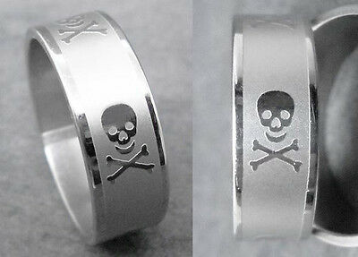 R023S charm men strong skull stainless steel cool ring you pick size new