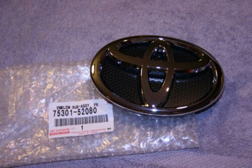 2007-2014 Yaris 4 Door Sedan Radiator Grille Emblem 75301-52080 Genuine Toyota