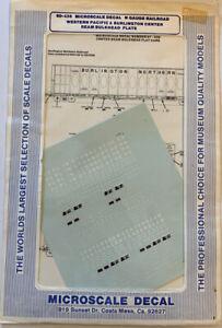 MICROSCALE N SCALE- WESTERN PACIFIC & BURLINGTON NORTHERN CTR BEAM CARS #60-436