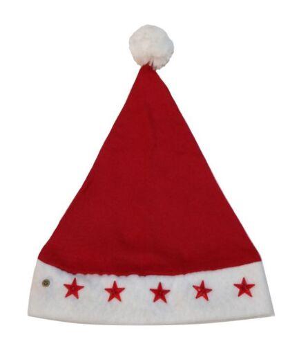 W054 BABBO NATALE BERRETTO//Cappello di Natale con luci intermittente v1