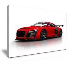 Red Audi R8 Super Car Modern Art Canvas Wall Picture Print 60x30cm
