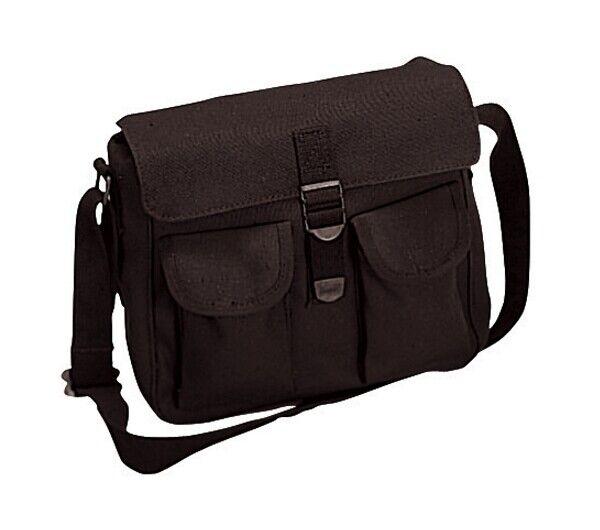 Rothco Black Canvas Ammo Shoulder Bags - 2278