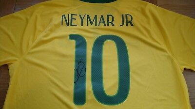 cheap for discount f2803 65528 Neymar Junior Jr Hand Signed Brazil Shirt £175 | eBay