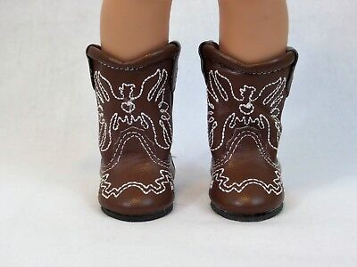 """Pink Western Cowgirl Boots Fits 14.5/"""" Wellie Wishers American Girl Clothes Shoes"""