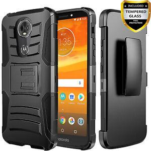 For Motorola Moto G7 Power Phone Case Armor Belt Clip Cover Glass Screen Ebay