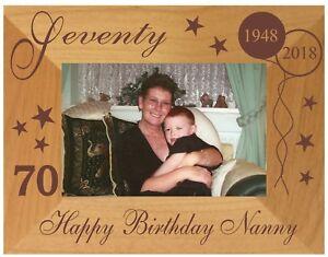 Image Is Loading 70th BIRTHDAY GIFT PHOTO FRAME PERSONALISED MUM NANNY