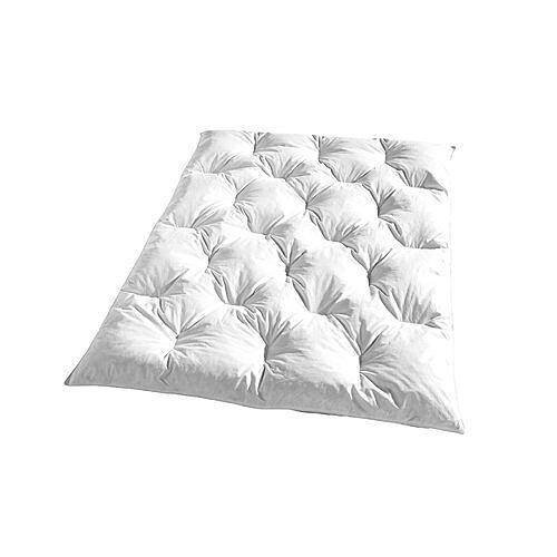 KBT Bettwaren Bettdecke Kassettendecke Steppdecke Federmischung 135x200cm Wei Rh