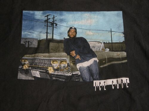 ICE CUBE Rap Faded Black T Shirt Mens XL USED