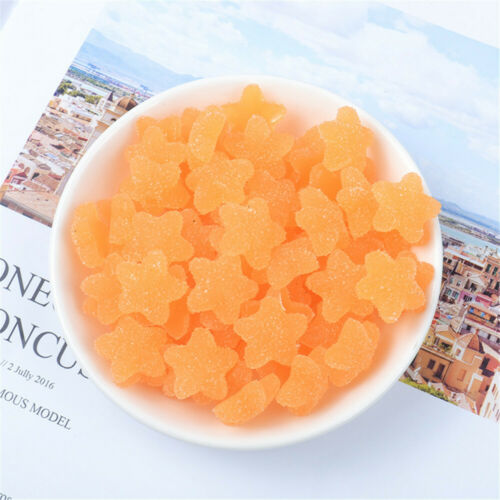 18mm Star Shaped Resin Candy Sweets Cabochons Crafts Jelly Drops Look 20 pcs