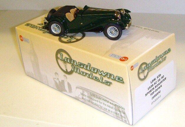 Lansdowne LDM63b - 1938 AC 16 80 Deportes Roadster, tapa abajo 1 43 Metal biancao