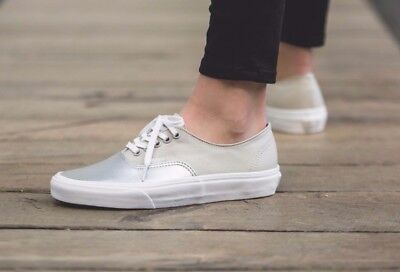 VANS Authentic Decon (Metallic CanvasLeather) Silver Skate WOMEN'S Shoes   eBay
