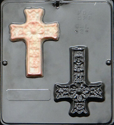 Cross Chocolate Candy Mold Religious  407 NEW