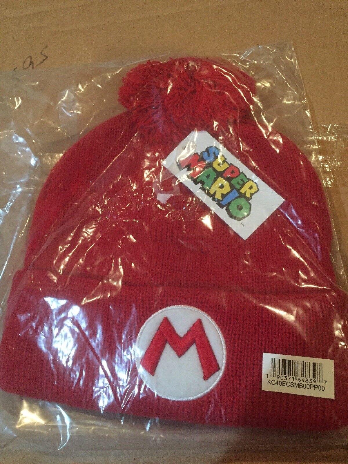 Nintendo Super Mario Bros. Pom Beanie Red GET SHIPPER IT FAST ~ US SHIPPER GET Loot Crate c1c534