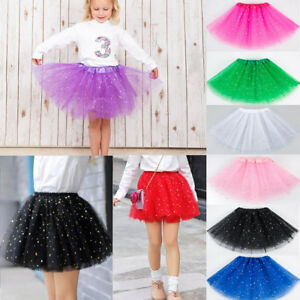 52b9f3ea5 Star GLITTER SPARKLE TUTU TULLE DRESS Women Kids Girls Ballet Dance ...